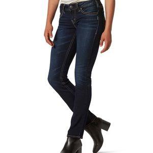 36/32-SILVER JEANS - Suki High Straight Jeans-EUC!